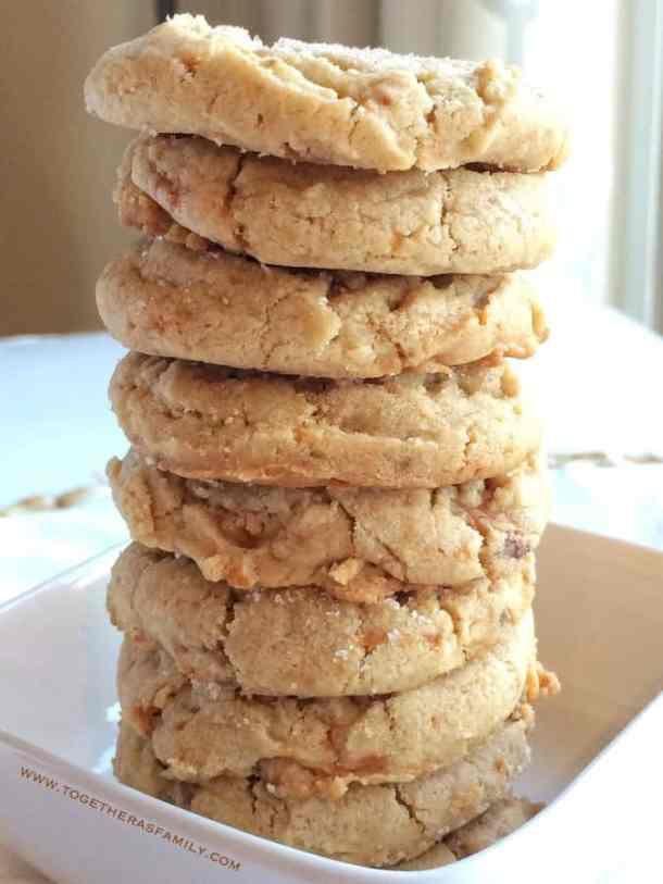 Peanut Butter Butterfinger Cookies -- Part of The Best Butterfinger Recipes
