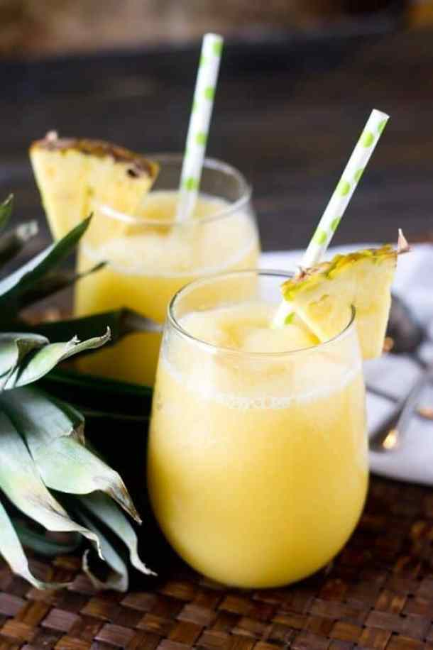 Pineapple Cream Tropical Smoothie-- Part of 30 Pineapple Recipes for your Sweet Summertime Cravings