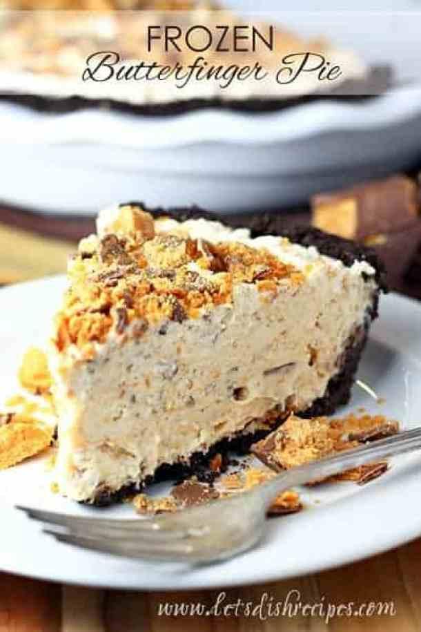 Frozen Butterfinger Pie -- Part of The Best Butterfinger Recipes