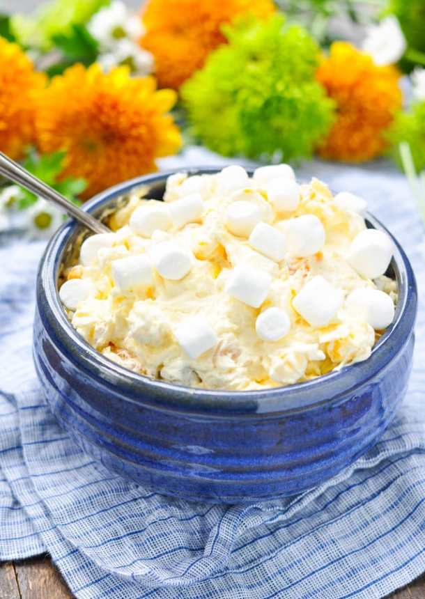 Orange Pineapple Fluff Salad-- Part of 30 Pineapple Recipes for your Sweet Summertime Cravings