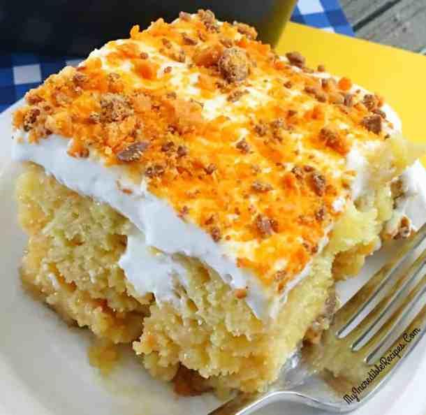 Butterfinger Ecstasy Cake -- Part of The Best Butterfinger Recipes