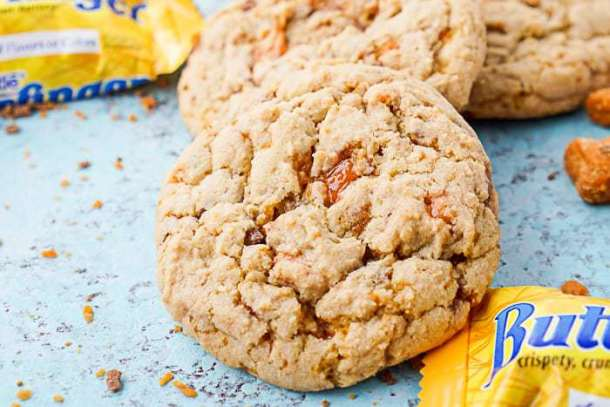 Butterfinger Pudding Cookies -- Part of The Best Butterfinger Recipes