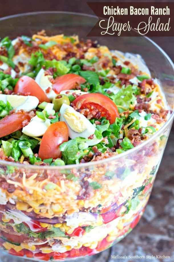 Chicken Bacon Ranch Layer Salad -- part of The Best Picnic and Potluck Recipes