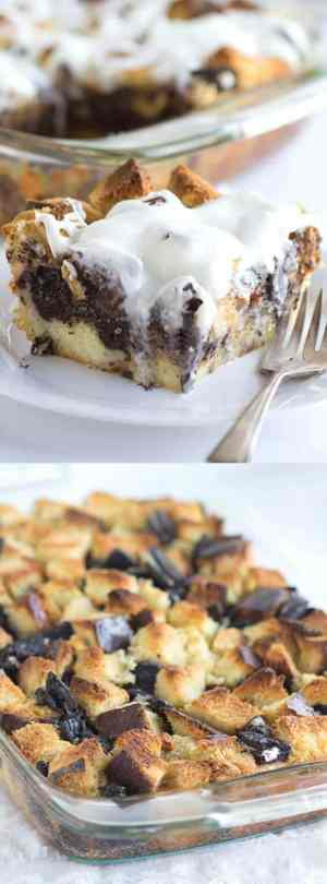 Cookies and Cream Bread Pudding Long Pin