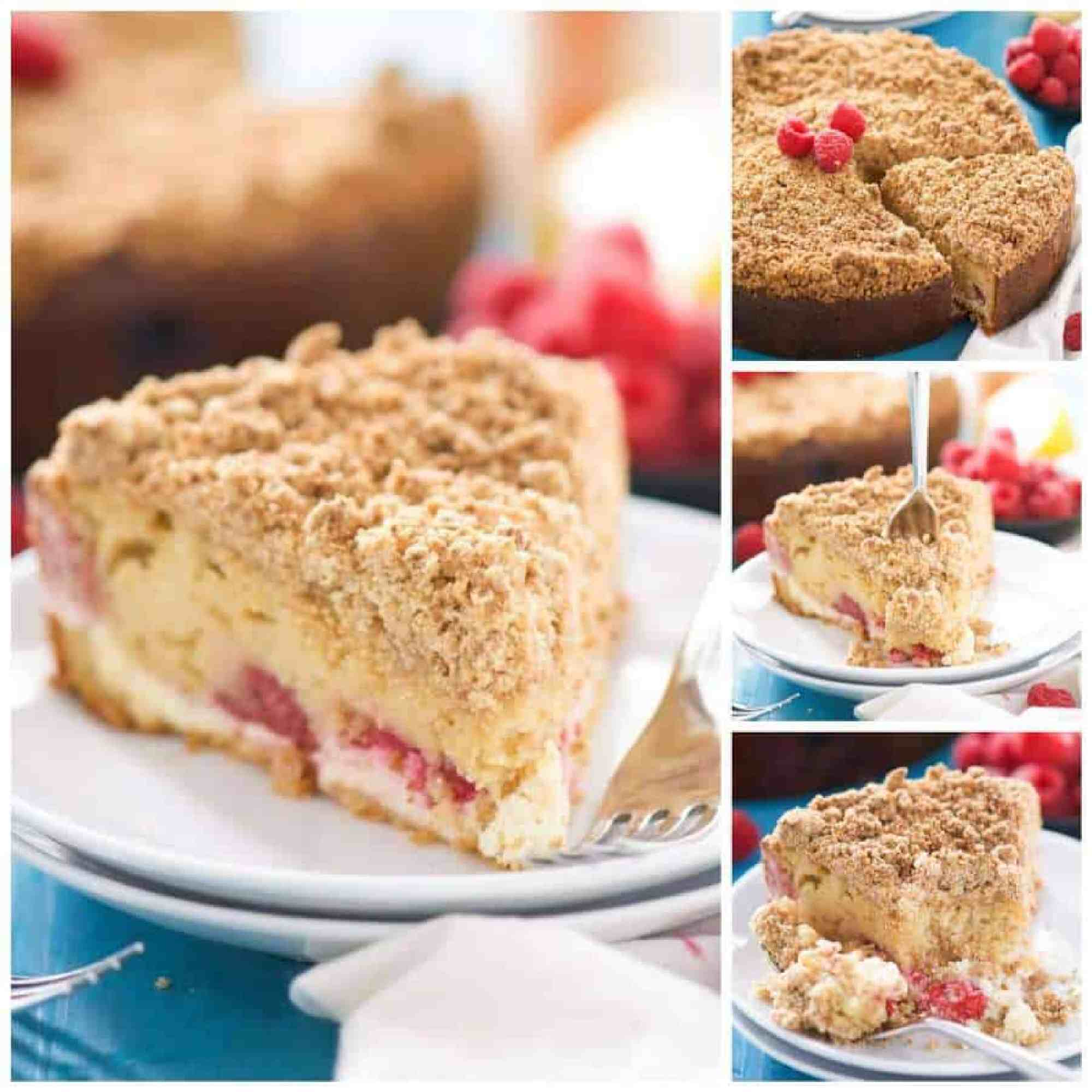 Lightened Up Lemon Berry Cream Cheese Coffee Cake