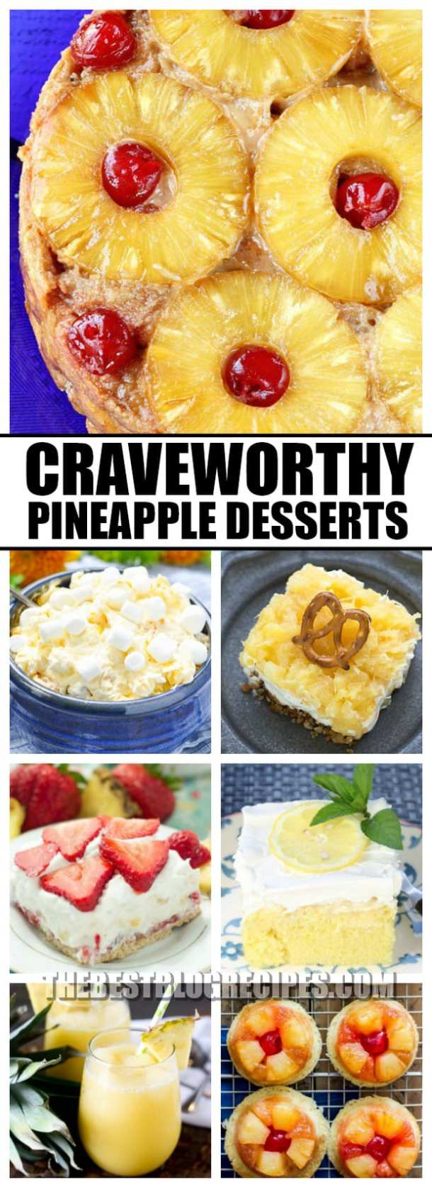 Even when the weather is cold, you need Pineapple Recipes for your Sweet Summertime Cravings! Tropical pineapple flavor is a hit for any occasion no matter the season!