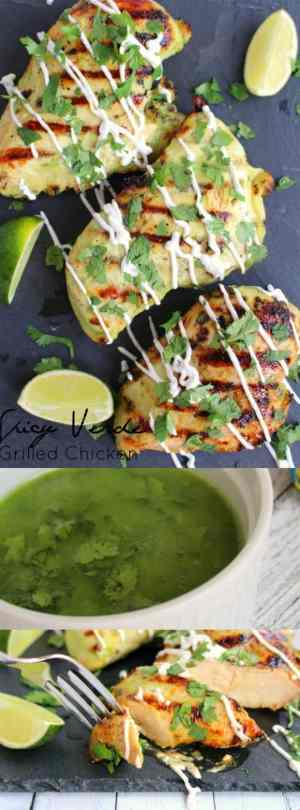 Spicy Verde Grilled Chicken Long Pin
