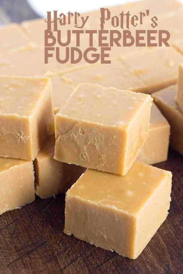 Harry Potter's Butterbeer Fudge -- Part of Fun and Festive Christmas Desserts