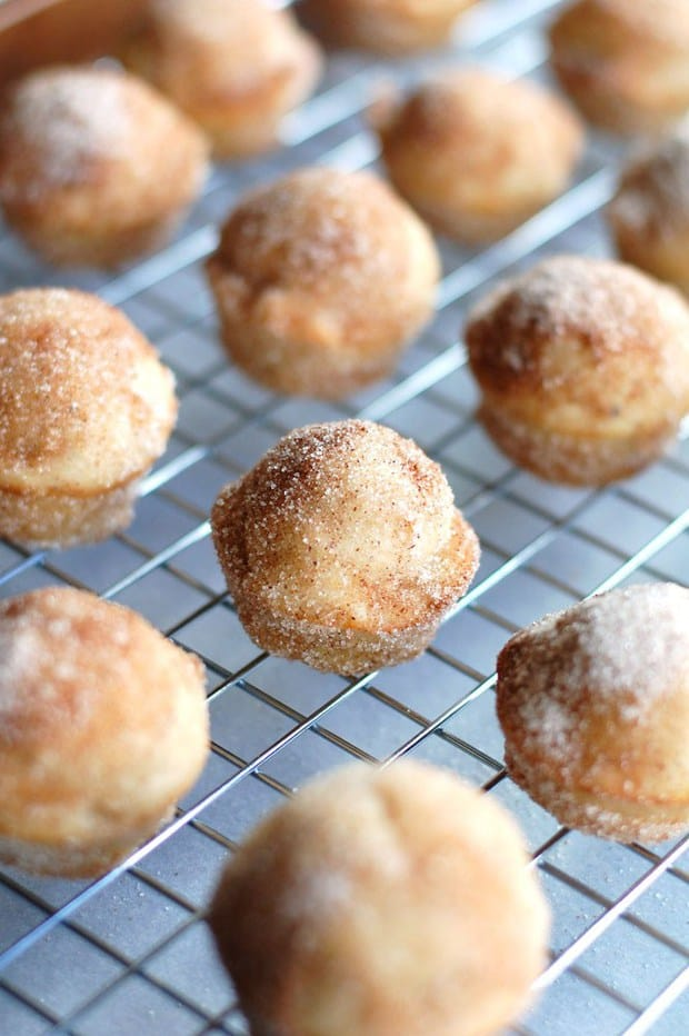 Cinnamon Sugar Banana Donut Holes are perfect way to start off your morning.
