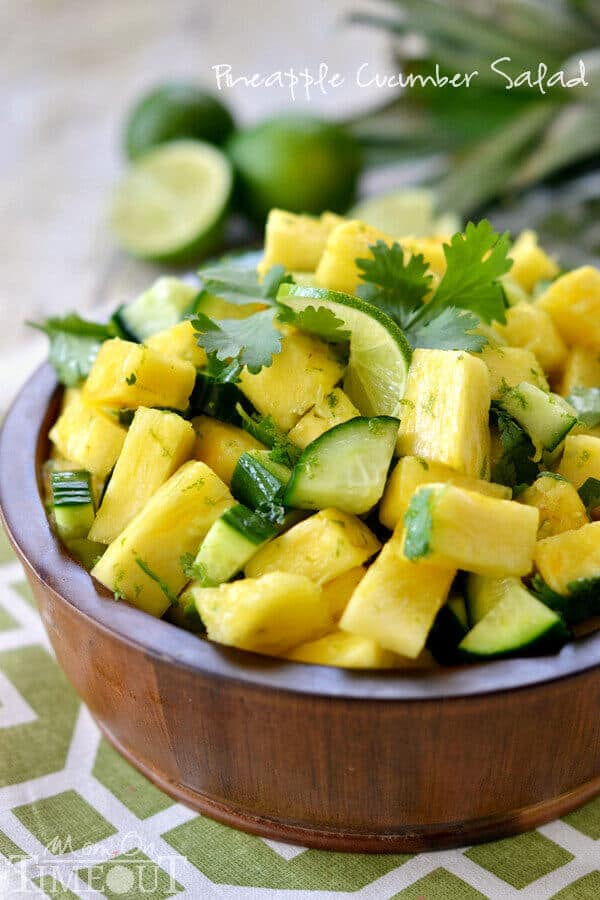 13 Pineapple Cucumber Salad