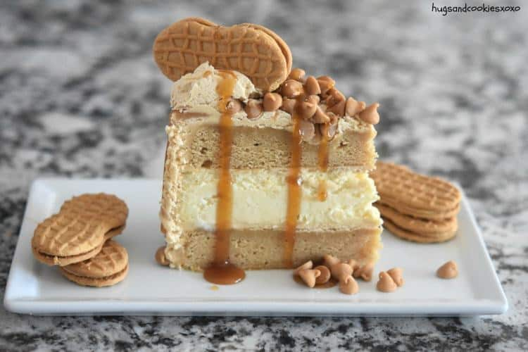 If you love peanut butter then you simply have to make this Peanut Butter Cheesecake Layer Cake. It feeds a crowd so think of it for your next occasion.