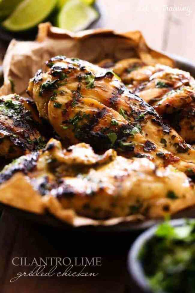 16 Cilantro Lime Grilled Chicken