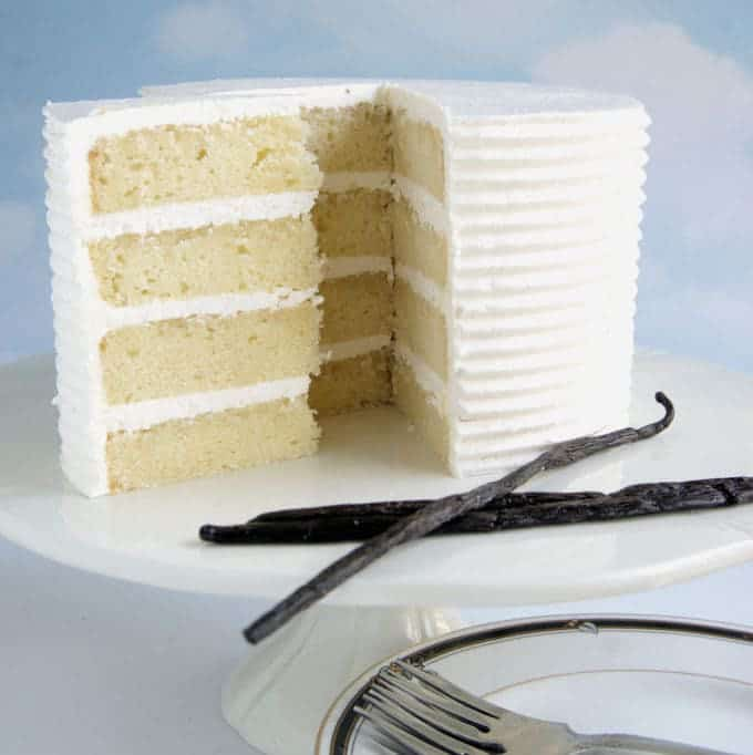 This is the quintessential vanilla layer cake, only better than ever. There are a few special touches that make this cake the best vanilla cake you'll ever taste.