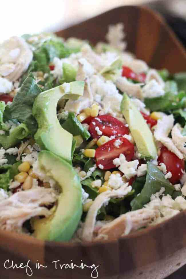 4 Feta Avocado Chicken Salad