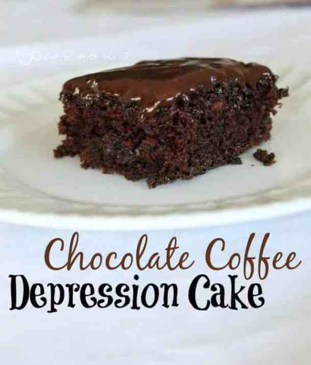 5 Chocolate Coffee Depression Cake