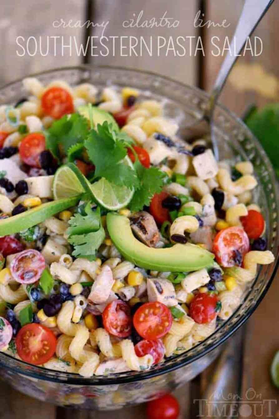 6 Creamy Cilantro Lime Southwestern Pasta Salad