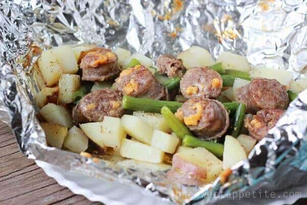 6 Italian Sausage and Potato Tin Foil Dinner