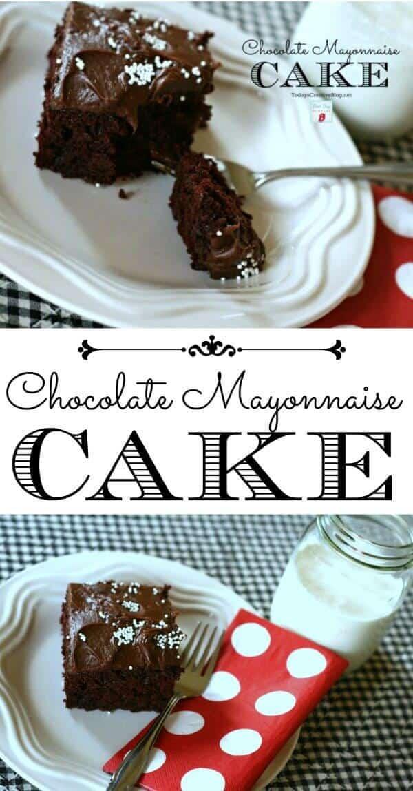 7 Chocolate Mayonnaise Cake
