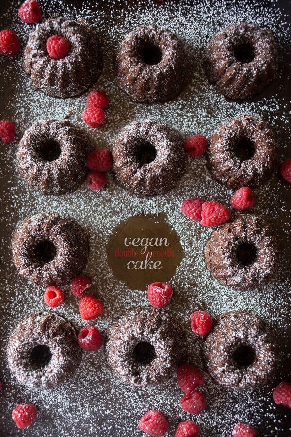 8 Vegan Double Chocolate Cake