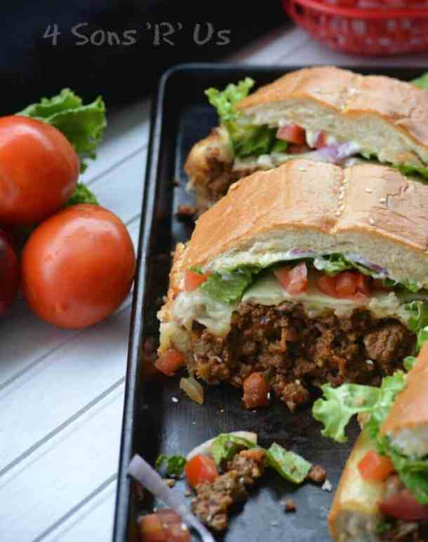 Cheeseburger Stuffed French Bread