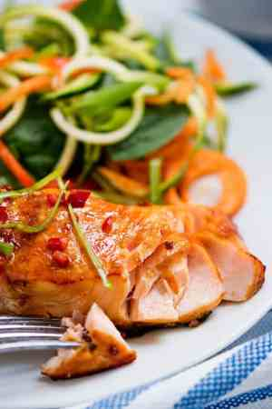 Honey Garlic Baked Salmon