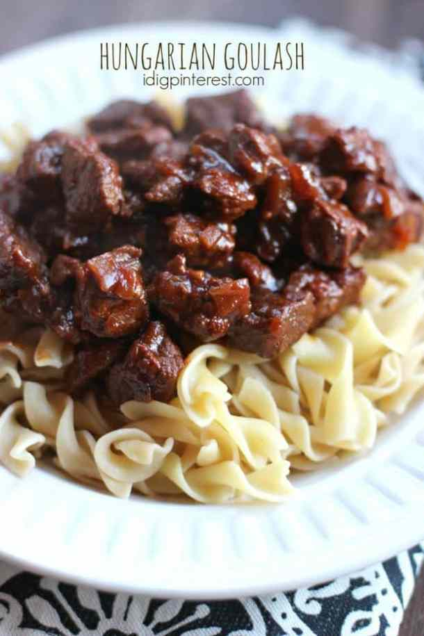 Hungarian Goulash -- part of Old Fashioned Goulash just like grandma made