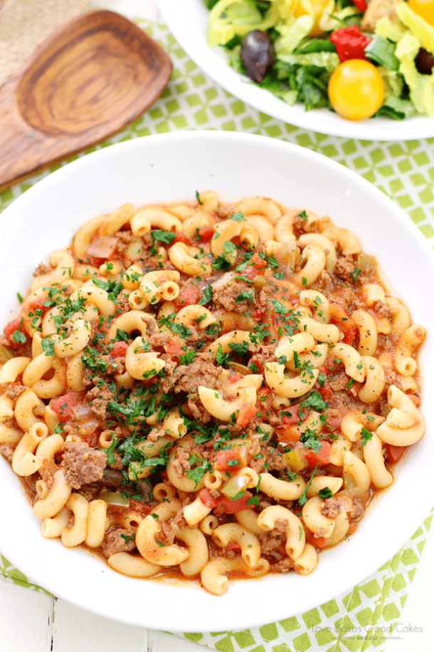 One Pot Goulash -- part of Old Fashioned Goulash just like grandma made