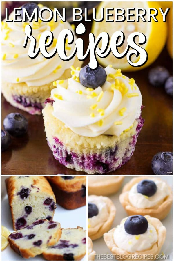 Easy Lemon Blueberry Recipes are the combination of two of the best and most complimentary flavors on the planet. Taste these recipes, and you will be in heaven.