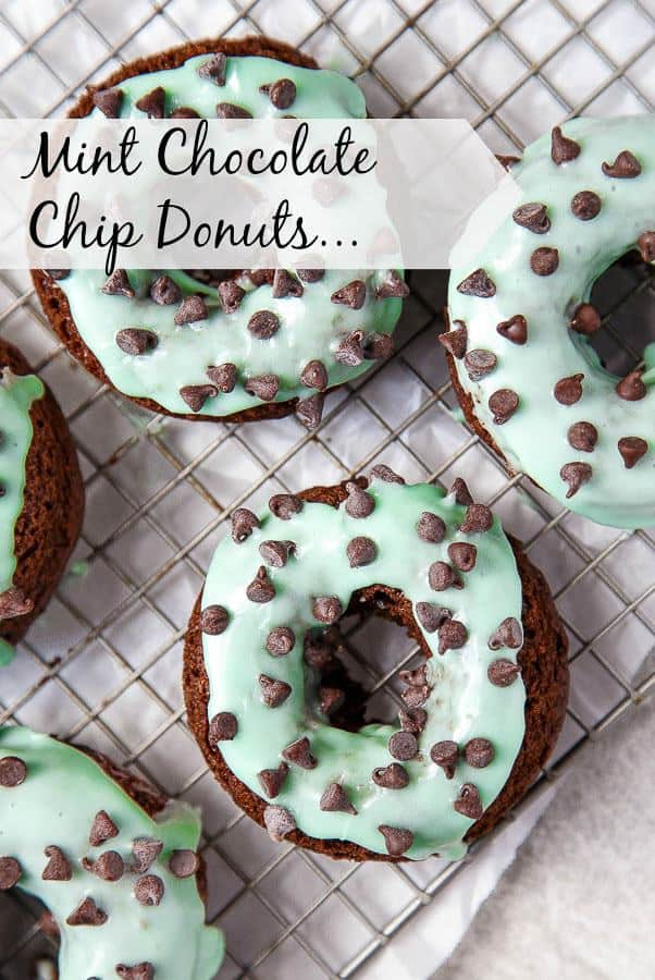 How cute are these Mint Chocolate Chip Donuts?