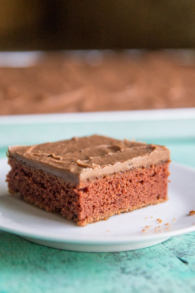 Texas Sheet Cake is moist and chocolatey with a butter-cocoa frosting. It's easy to make and always a crowd favorite with NO leftovers!
