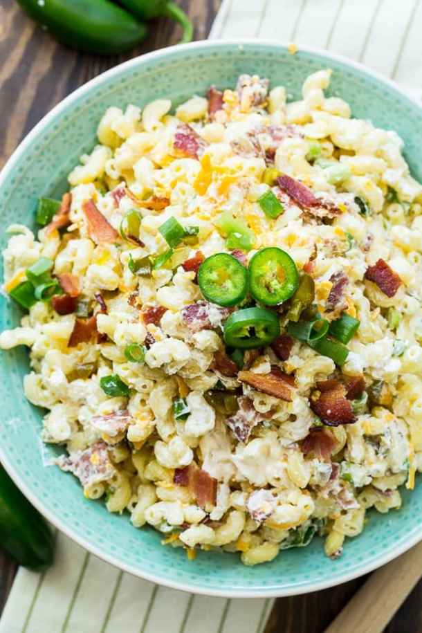 Jalapeno Popper Pasta Salad -- part of The Best Picnic and Potluck Recipes