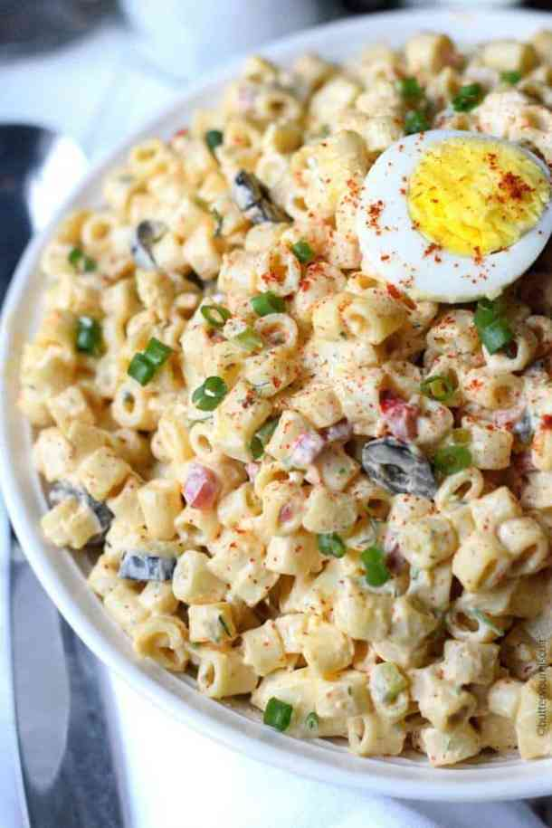 Deviled Egg Macaroni Salad -- part of The Best Picnic and Potluck Recipes