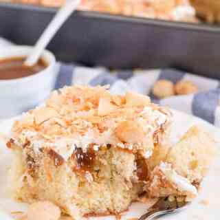 Coconut Caramel Poke Cake