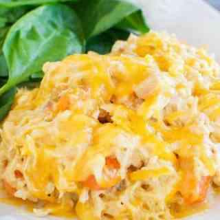 Easy Cheesy Crock Pot Chicken