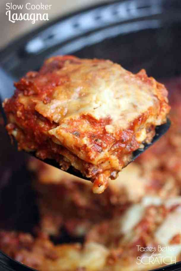 Slow Cooker Lasagna--Part of The Best Lasagna Recipes