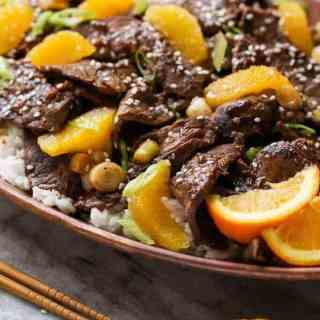 Orange Beef Stir Fry