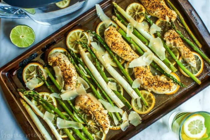 SHEET PAN LEMON CHICKEN AND ASPARAGUS -- PART OF OUR 20 MUST MAKE LEMON CHICKEN RECIPES