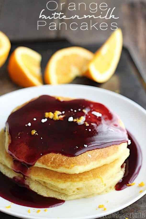 Orange Buttermilk Pancakes-- Part of THE BEST PANCAKE RECIPES