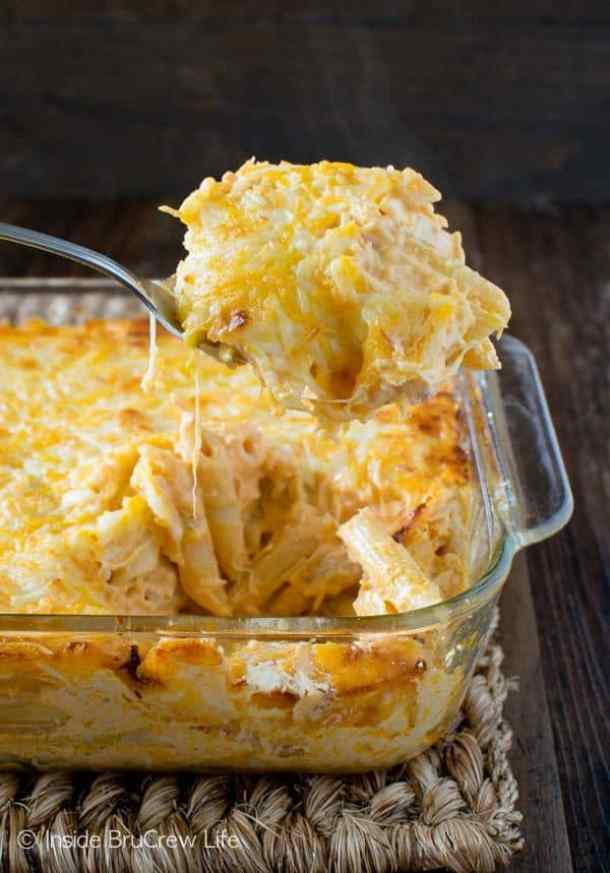 Buffalo Chicken Pasta Bake --Part of 25+ Favorite Buffalo Flavored Recipes