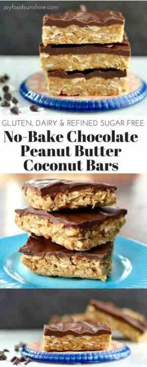 CHOCOLATE PEANUT BUTTER COCONUT BARS