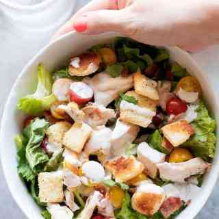 Chicken BLT Salad with Buttermilk Parmesan Dressing