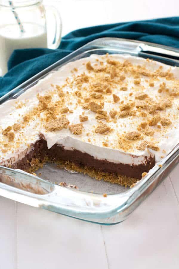 Chocolate Cheesecake Pudding Dessert