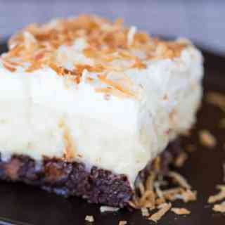 Coconut Cream Brownies