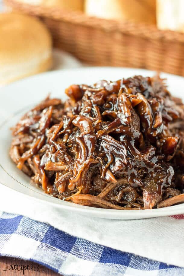 Slow Cooker Honey Balsamic Pulled Prork