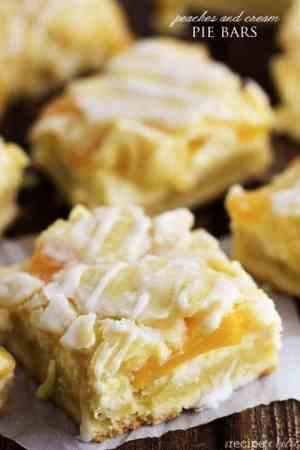 Peaches and Cream Pie Bars Recipe