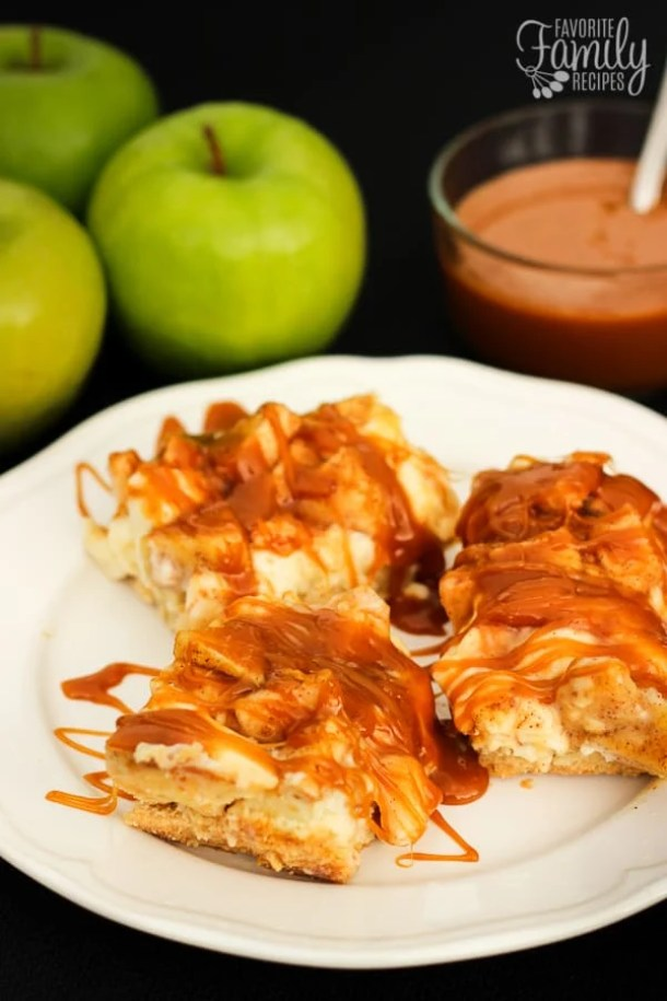 SALTED CARAMEL CHEESECAKE BARS -- part of 19 MUST MAKE APPLE RECIPES FOR FALL