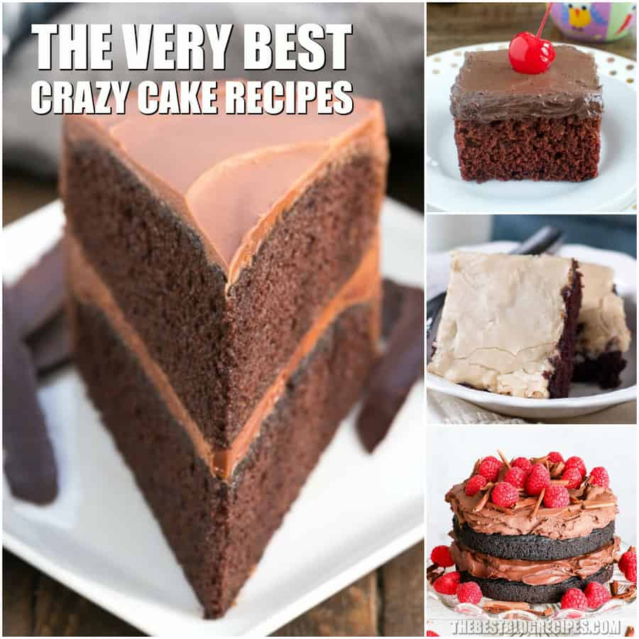 The Best Crazy Cake Recipes are amazingly delicious! With no eggs included in these recipes, they make the perfect vegan dessert!
