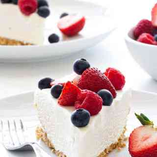 No-Bake Frozen Cheesecake