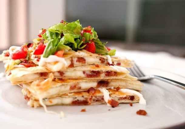 BLT Quesadillas--Part of THe Best Quesadillas Recipes