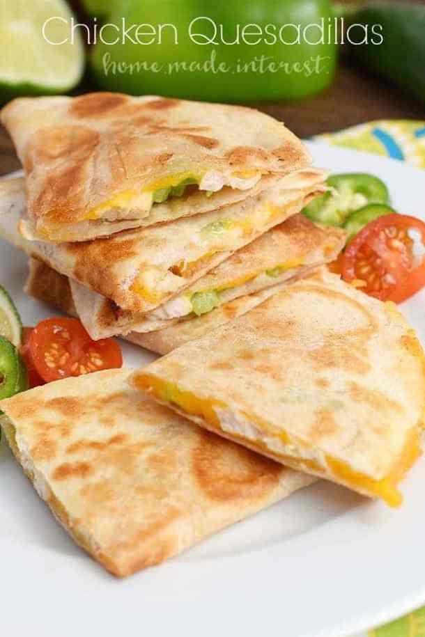 Chicken Quesadillas--Part of THe Best Quesadillas Recipes